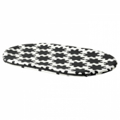 ЛУРВИГ Чехол д/лежанки домашнего питомца, черный, белый, 35x52 см