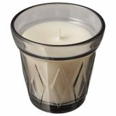 ВЭЛЬДОФТ Ароматическая свеча в стакане, Соленая карамель серый, серый, 8 см